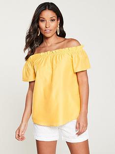 v-by-very-bardot-top-yellow