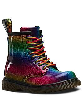 dr martens 1460 rainbow glitter 8 lace boot