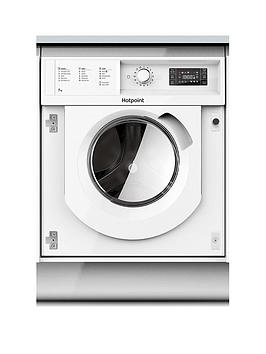 Hotpoint Biwmhg71284 7Kg Load, 1200 Spin Integrated Washing Machine - White - Washing Machine Only