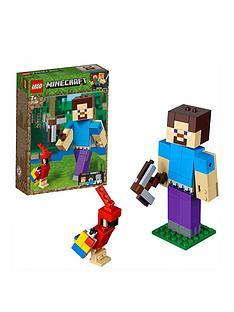 lego-minecraft-21148nbspminecrafttrade-bigfig-steve-with-parrot