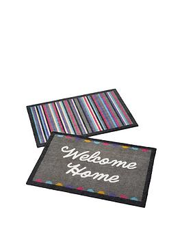 Very Pack Of 2 Indoor Doormats &Ndash; Welcome Home/Brights Picture