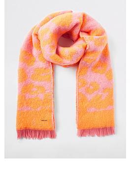 river-island-neon-leopard-scarf-pink