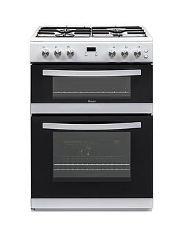 Swan Swan Swan Sx15862W 60Cm Double Gas Cooker White Picture