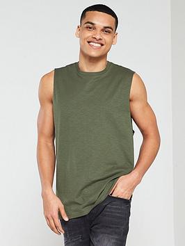 v-by-very-cut-off-vest-khaki