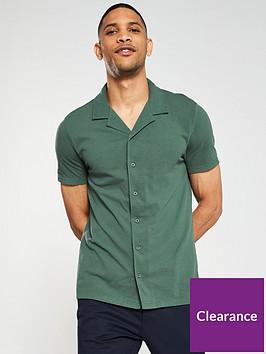 v-by-very-button-through-pique-polo-shirt-forest-green