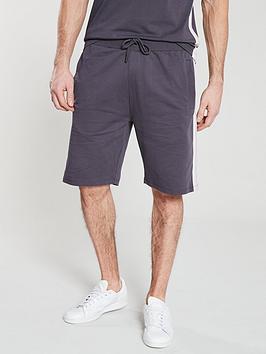 v-by-very-side-stripe-sweat-short-dark-grey
