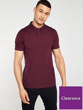v-by-very-short-sleeved-jersey-polo-burgundy