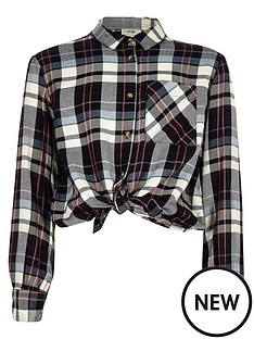 river-island-girls-blue-frill-tie-front-check-shirt