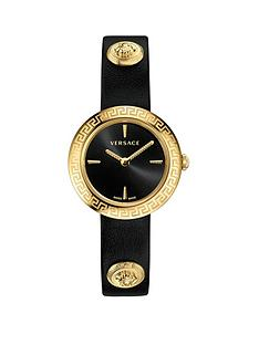 versace-versace-black-and-gold-ip-28mm-dial-gold-medusa-stud-icon-black-leather-wrap-strap-ladies-watch