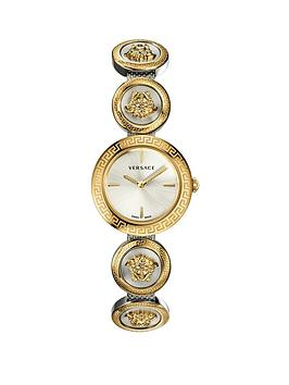 Versace Versace Versace Gold 28Mm Dial Two Tone Medusa Stud Icon Stainless  ... Picture