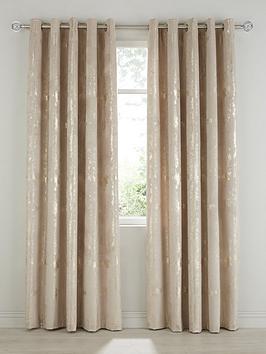 Michelle Keegan Home Michelle Keegan Home Embossed Velvet Eyelet Curtains Picture