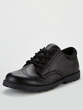 V by Very V By Very Boys Freddie Brogue School Shoes - Black Picture