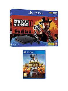 playstation-4-red-dead-redemption-2-ps4-500gb-bundle-with-player-unknown-battlegrounds-with-optional-extras