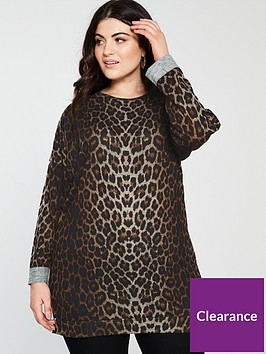 v-by-very-curve-longline-printed-sweat-top-leopard-print