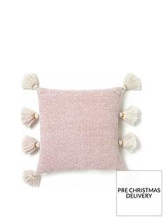 monsoon-chenille-tassel-cushion