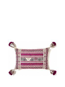 monsoon-aztec-stitch-cushion