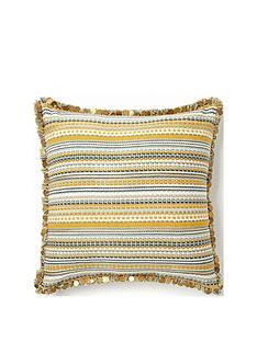 monsoon-stripe-sequin-fringe-cushion