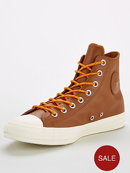 converse-chuck-taylor-all-star-leather-hi-trainers-tanwhite