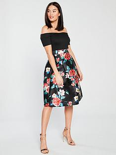 ax-paris-2-in-1-floral-midi-dress