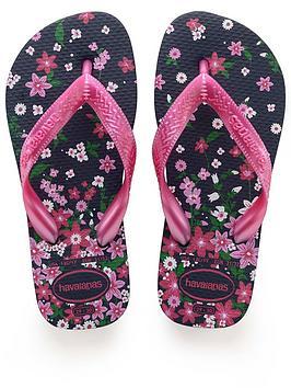 Havaianas Havaianas Flores Flip Flops - Navy/Pink Picture