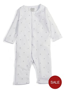 mamas-papas-unisex-star-embroidered-romper-white