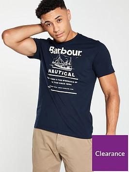 barbour-davan-tee-navy