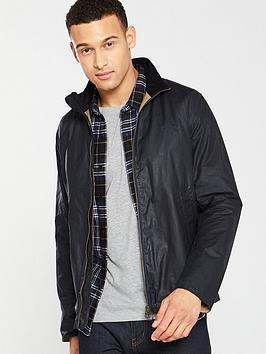 Barbour   Admiralty Wax Jacket - Navy