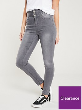 v-by-very-macy-high-waisted-skinny-jean-grey