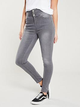 V by Very V By Very Macy High Waisted Skinny Jean - Grey Picture