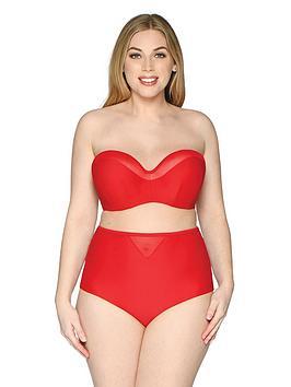 Curvy Kate Curvy Kate Sheer Class Bandeau Bikini Top - Red Picture