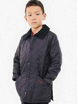 Barbour Barbour Boys Classic Liddesdale Quilt Jacket - Navy Picture