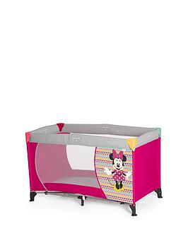minnie-mouse-hauck-disney-dream-n-play-travel-cot--minnie-geo-pink