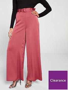 the-girl-code-wide-leg-self-belt-trouser-cranberry