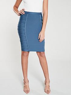 the-girl-code-lace-up-bandage-skirt-blue