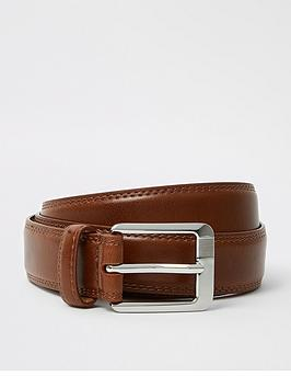 River Island River Island Tan Ri Monogram Belt Picture