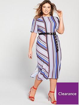 lost-ink-plus-column-stripe-midi-dress