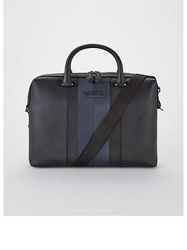 ted-baker-twill-document-bag-black