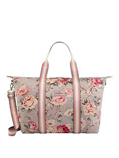48066c3992 Cath Kidston Foldaway Overnight Bag Garden Rose Grey