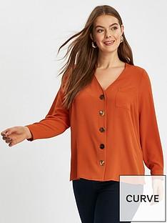 evans-v-neck-button-shirt