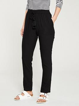 v-by-very-cutwork-linen-trouser-black