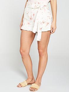 v-by-very-paper-bag-waistnbsplinen-short-floral