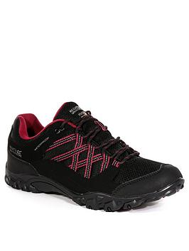 Regatta Regatta Lady Edgepoint Iii Low Walking Boots - Black/Pink Picture