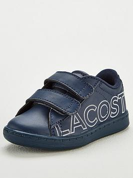 lacoste infant boys carnaby evo 219 strap trainer