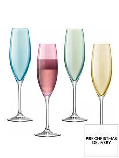 lsa-international-polkanbsphand-crafted-champagne-flutes-ndash-set-of-4