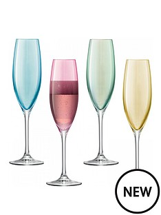 lsa-polka-champagne-flutes-ndash-set-of-4