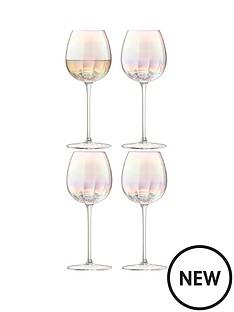 lsa-pearl-white-wine-glasses-ndash-set-of-4