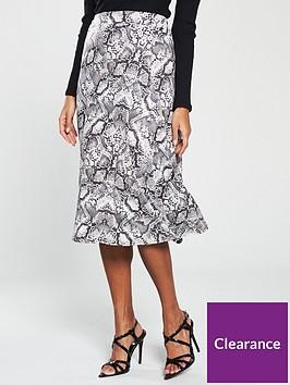 v-by-very-snake-flippy-midi-skirt-print