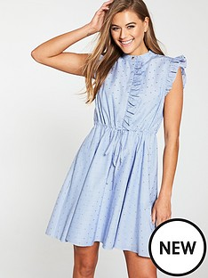 ted-baker-ted-baker-beyonc-stand-collar-ruffle-shift-dress
