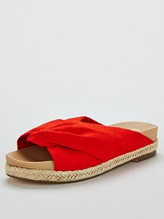 v-by-very-harlow-soft-knot-footbed-espadrilles-red