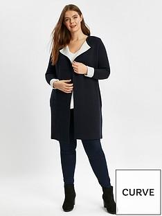 evans-contrast-coatigan
